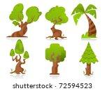 stylized trees | Shutterstock .eps vector #72594523