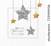 merry christmas glowing banner... | Shutterstock .eps vector #725949436