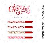 christmas loading bar... | Shutterstock .eps vector #725953552