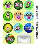 set of badges amusing a farm | Shutterstock .eps vector #72595435