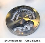 disc cad cam dental machinery... | Shutterstock . vector #725955256