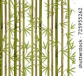 bamboo with leaves seamless... | Shutterstock .eps vector #725955262