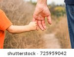 beautiful hands of a happy... | Shutterstock . vector #725959042