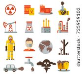 eco pollution icons set... | Shutterstock . vector #725959102