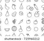 hand drawn seamless pattern... | Shutterstock .eps vector #725960212