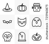 halloween icon set | Shutterstock .eps vector #725960875