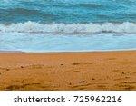 wave breaking coast   Shutterstock . vector #725962216