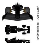 black race car in various... | Shutterstock .eps vector #72596254
