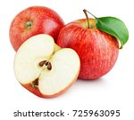 ripe red apple fruit with apple ... | Shutterstock . vector #725963095