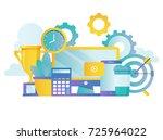 business workspace  office... | Shutterstock .eps vector #725964022