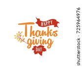 happy thanksgiving day event... | Shutterstock .eps vector #725964976
