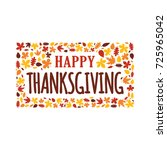 happy thanksgiving day event... | Shutterstock .eps vector #725965042