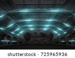 3d illustration of futuristic... | Shutterstock . vector #725965936