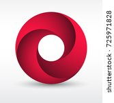 infinity loop circle with...   Shutterstock .eps vector #725971828