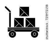 trolley delivery icon | Shutterstock .eps vector #725972158