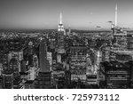 new york city with skyscrapers...   Shutterstock . vector #725973112