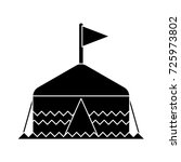 tent icon | Shutterstock .eps vector #725973802
