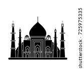 taj mahal icon | Shutterstock .eps vector #725975335