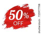 sale red blob   Shutterstock . vector #725977708