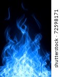 gas fire and flame background | Shutterstock . vector #72598171