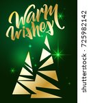 warm wishes lettering. hand... | Shutterstock .eps vector #725982142