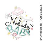 cute pattern with slogans ... | Shutterstock .eps vector #725982616