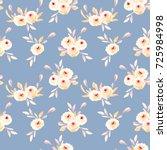 seamless floral pattern with... | Shutterstock . vector #725984998