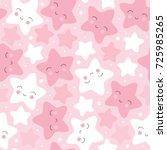 Seamless Pastel Star Pattern...