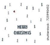 christmas card vector template... | Shutterstock .eps vector #725990452