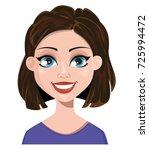 woman smiling. female emotion ... | Shutterstock .eps vector #725994472