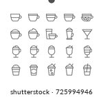 coffee ui pixel perfect well... | Shutterstock .eps vector #725994946