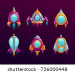 Cartoon Rocket Icons Set....