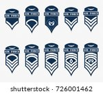 military ranks stripes and... | Shutterstock .eps vector #726001462