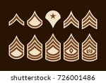 military ranks stripes and... | Shutterstock .eps vector #726001486