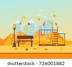 autumn kids playground ...   Shutterstock . vector #726001882