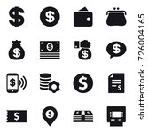 16 vector icon set   dollar ... | Shutterstock .eps vector #726004165