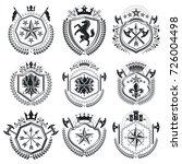 luxury heraldic vectors emblem... | Shutterstock .eps vector #726004498