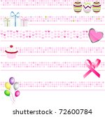 pink banners collection | Shutterstock .eps vector #72600784