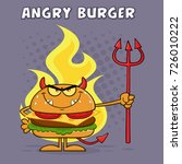 evil burger cartoon character... | Shutterstock .eps vector #726010222