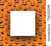 square orange halloween... | Shutterstock .eps vector #726020548