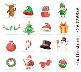 christmas new year winter... | Shutterstock .eps vector #726029836