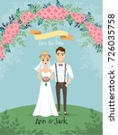 save the date. wedding... | Shutterstock .eps vector #726035758
