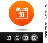 halloween icons. calendar signs....   Shutterstock .eps vector #726044026