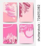 set of ink brush patterns ... | Shutterstock .eps vector #726051382
