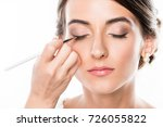 cropped sot of makeup artist... | Shutterstock . vector #726055822