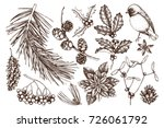 vector collection of hand drawn ... | Shutterstock .eps vector #726061792