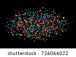 colorful bright rainbow colors... | Shutterstock .eps vector #726066022