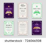 set of great quality style... | Shutterstock . vector #726066508