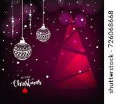 merry christmas  design...   Shutterstock .eps vector #726068668