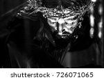 Black and white portrait of Jesus Christ